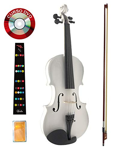 Violin blanco 4/4 Divarius Profesional Paquete Todo Incluido