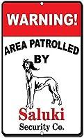 アルミ金属看板おかしい警告領域巡回サルーキ情報ノベルティ壁アート垂直