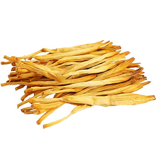 Dried Lily Flowers,Chinese Food Cooking material,Golden Needles Dried Day Lilies for Hot & Sour Soup,Moo Shu Pork, and Buddha's Delight金针菜/黄花菜500g(17.6oz)百合干花