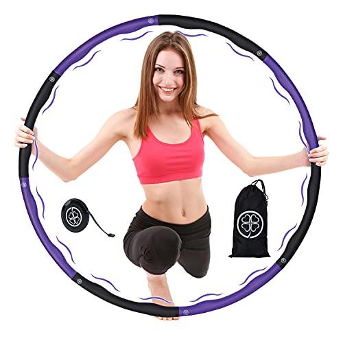 Clove ® Hula Hoop Reifen für Erwachsene mit Tasche zum Abnehmen - Gymnastikreifen mit Massage Noppen für Gewichtsverlust - Premium Fitnessreifen ideal für Fitness/Bauchformung/Bauchtrainer ca 1,2 kg
