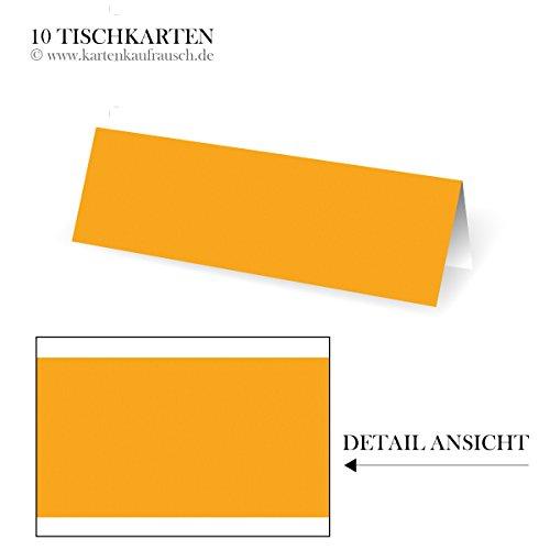 10 effen plaatskaarten, universeel, tafelkaarten, naamkaarten, naamplaatjes, bruiloft, huwelijk, doop, communie, formaat: 10 x 3,5 cm | kleur: curry