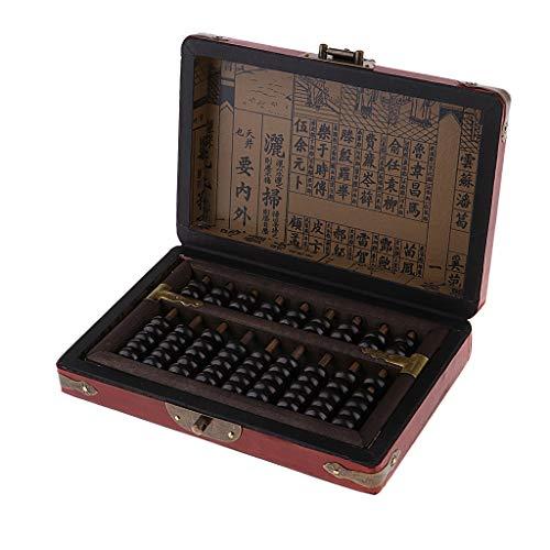 sharprepublic Sammlungen Handmade Retro Antike Zivilisation Chinesische Antike Taschenrechner Abacus + Holzkiste