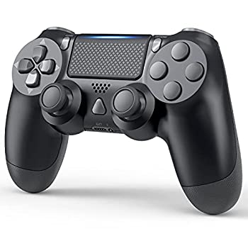 YCCTEAM Wireless Game Controller Compatible with PS-4/ Slim/Pro Console  Jet Black