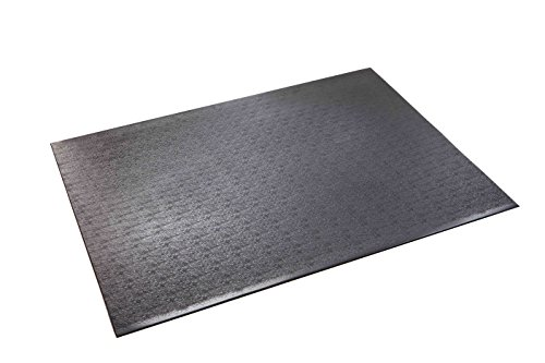 Supermats High Density Commercial Grade Solid Equipment Mat 27GS Made in U.S.A. for Indoor Cycles Exercise Bikes and Steppers (3 Feet x 4 Feet) (36-Inch x 48-Inch) (91.44 cm x 121.92 cm)