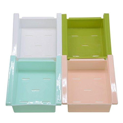 Kühlschrank-Aufbewahrung, Schubladen, Kunststoff, Küche, Kühlschrank, Kühlschrank, Gefrierschrank, Regalhalter, platzsparend, 4 Stück