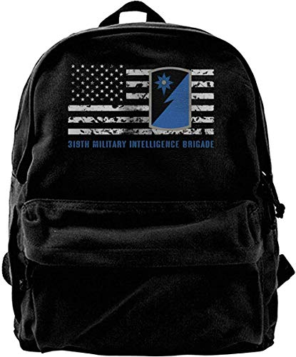 319th Military Intelligence Brigade Vintage Privacy Canvas Shoulder Bag Travel Backpack School Bags