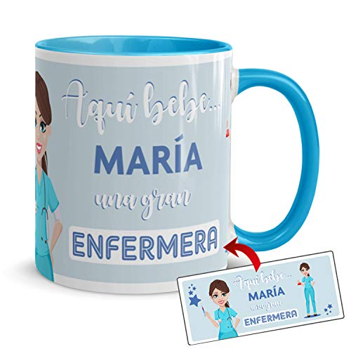 Kembilove Taza de Café de la Mejor Enfermera del Mundo Personalizada con...