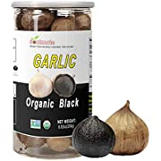 Soulmate Organic Black Garlic 250g Whole Black Garlic Aged for full Fermented 90 Days, NON-GMO Made in California, High in Antioxidants One-Clove Organic Black Garlic 8.82 Ounce (250g)
