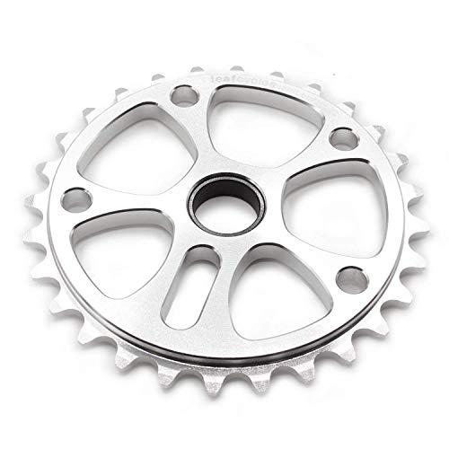Leafcycles Dirtjumping & BMX Kettenblatt aus 7075 Aluminium 28 Zähne, Silber