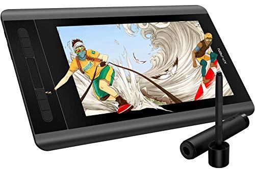 XP-PEN Artist 12 Grafiktablett mit Monitor 1920X1080P HD IPS Pen Display Touch Bar 8 Shortcut Keys zum Zeichnen Unterschrift Home-Office