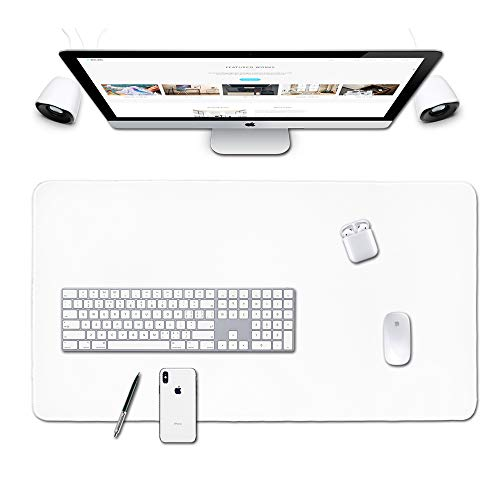 Large Gaming Mouse Pad,Home Office Décor for Women Desk Pad,Extended XL Mousepad,Desk Mats On Top of Desks,PC Accessories,Big Keyboard Pad,Mens Laptop Matt,Cover Protector,XXL Extra Long (03White)