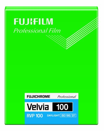 Fujifilm 16326157 Velvia 100 Dia-Farbfilm 4x5 (20 Blatt)