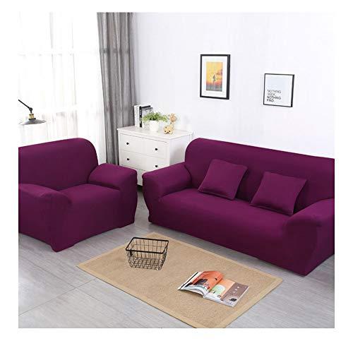 ZIXING Fashion Funda de sofá Elastica 1/2/3/4 plazas de Color sólido,Cubierta para sofá,Universal Funda Elástica para Sofá de Poliéster y Spandex 90 * 140cm