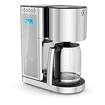 Russell Hobbs Glass Series 8-Cup Coffeemaker Silver & Stainless Steel CM8100GYR