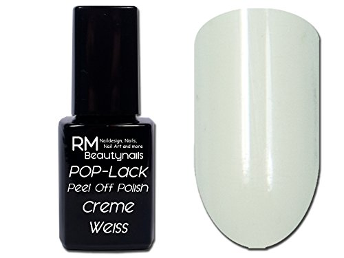 RM Beautynails UV Peel Off Polish Lack Nagellack Cremeweiss 12ml Inhalt