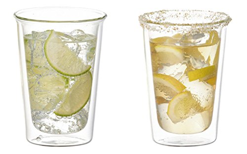 Set mit 2 doppelwandigen Cocktailgläsern – Kinto Cast – 290 ml (10 oz) (Japan Import)