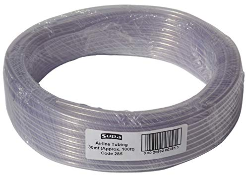 Supa Clear Aquarium Airline Tubing, 6 mm (External Diameter) x 4 mm (Internal Diameter) x 30 metres, Suitable For Connecting Air Pumps, Airline Accessories And Fish Tank Ornaments