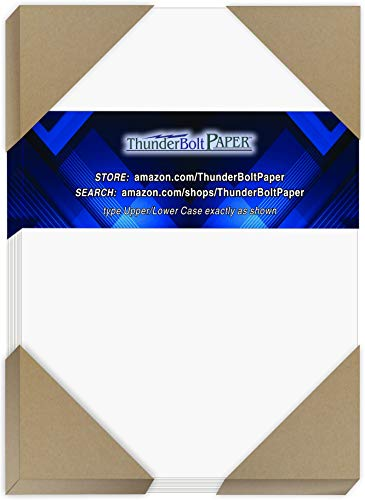 "200 Bright White Smooth Card Paper Sheets - 5"" X 7"" (5X7 Inches) Photo