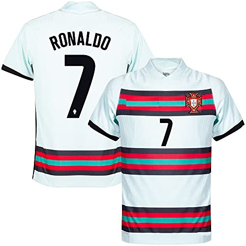 GOLDEN FASHION Portugal Football Jersey 2021-22 with Ronaldo 7 Printed ONLY Jersey for Men Women Unisex Multicolored (White, XL)