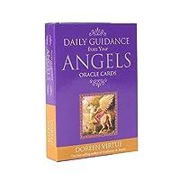 Daily Guidance from your Angels Oracle cards エンジェルスオラクルカードからの毎日のガイダンスEGuideブックEinstruction占いゲームを使用した英語のゴールドギルデッドタロットデッキ