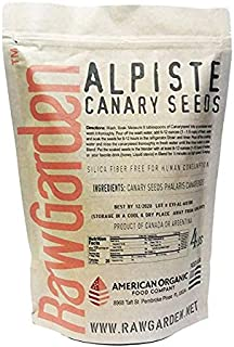 Raw Garden Canary Seed (Alpiste) (1 Pack 4 lbs) for Human Consumption, Silica Fiber Free.
