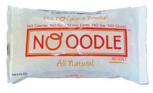 NOoodle No Carb Pasta, Noodle Alternative, Zero Calories, Gluten Free, Keto Friendly, Made in U.S.A, Best Tasting Shirataki Noodles (Angel Hair, 12-pack)