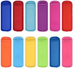 12 Pack Colors Popsicle Holder Bags?BPA-Free Neoprene Fabric Cold Ice Pop Sleeves?Insulated No Drip Ice Pop Sleeves Freezer Popsicle Covers for kids,Drink,At-home, Party, Summer