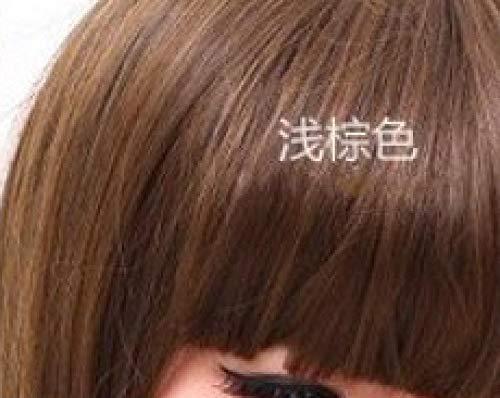 IQMEI Perruque Perruques filles perruques fashion air élégant air poire frange simulation mignon grand volume filles extension de cheveux @ Light Brown