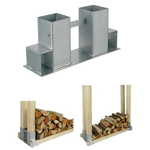 2er Set Holz Stapelhilfe Kamin Brennholz Kaminholz Holzstapelhalter Kaminholzhalter Kaminholzregal