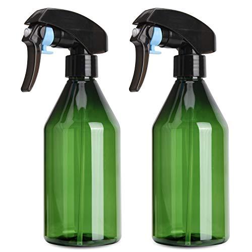 Noverlife 2PCS 300ml/10oz Plant Water Mister, Fine Mist Plastic Spray Bottle for Gardening Bonsai, Refillable Water Mist Trigger Sprayer for Cleaner Solution, House Plant, Hair Spray