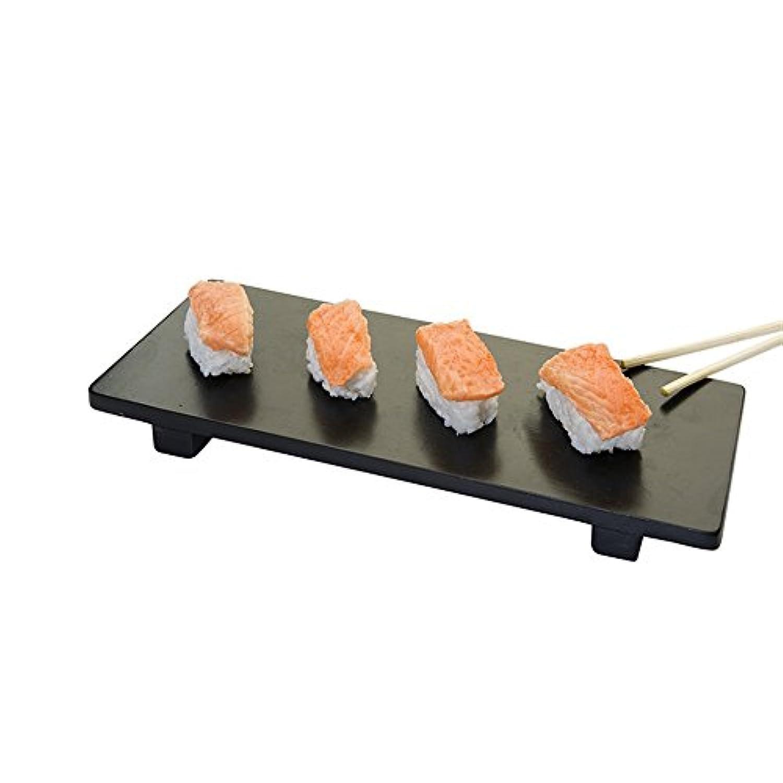 Garcia de Pou Bamboo Base for Sushi, 30 x 11 x 2.5 cm, Black, One Size