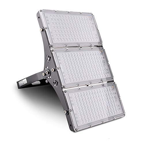 300W Proyector LED Floodlight 24000lm Focos LED Exterior para patio Impermeable IP66 3000K Blanco Cálido, Reflector LED para Patio Garaje Taller[Clase energética A+]