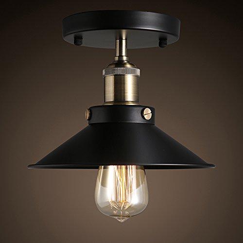 Homestia Suspension Lumière de Style Industriel Noir Vintage