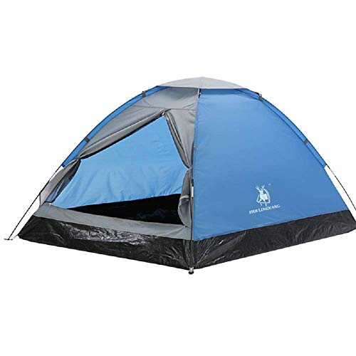 WY-YAN Outdoor Single-layer Camping Tent, Couple Leisure Camping Supplies, Double Door Ventilation And Breathable Anti-light Rain Tent,Blue,2 Persons