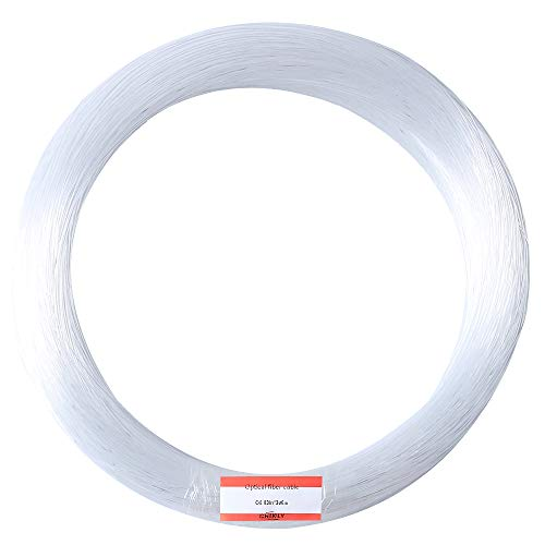 CHINLY 0.03in(0.75mm) 984ft(300M)/roll PMMA Plastic end Glow Fiber...