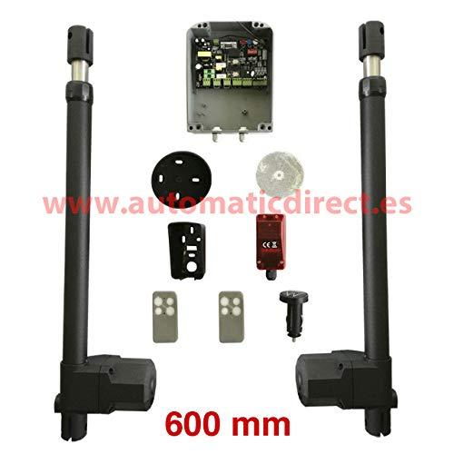 Kit de motor para puerta automática batiente de 2 hojas + 1 cuadro de maniobra SW + 1 fotocélula de espejo + 2 mandos + 1 mando universal lighter car (600 mm): Amazon.es: Bricolaje y herramientas