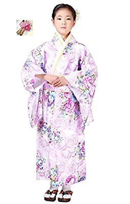 Halloween party women's kimono costume ?Japanese Floral Pattern? Ideal for gifts