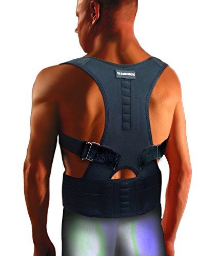 The Healing Universe - Kyphosis Bandage - Für eine Geradehaltung des Rückens und der Schultern (Black, XXL-Men)