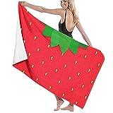Strawberry Towel Wrap Bath Womens SPA Ducha y Envoltura Toallas Natación Albornoz Cover Up para Damas Niñas ^ 80X130 Cm