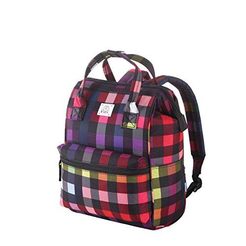 Rada Rucksack RS/19/M 14l Freizeitrucksack für Herren und Damen, Leichter Daypack für Jungen und Mädchen, geeignet für Arbeit und Sport, wasserabweisendes Polyester (multicolorcheck)