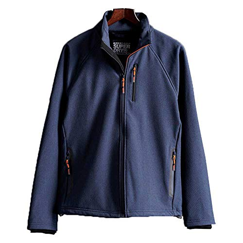 Superdry Herren Non Hooded Softshell Jacke, Blau (Navy Marl 97T), Small