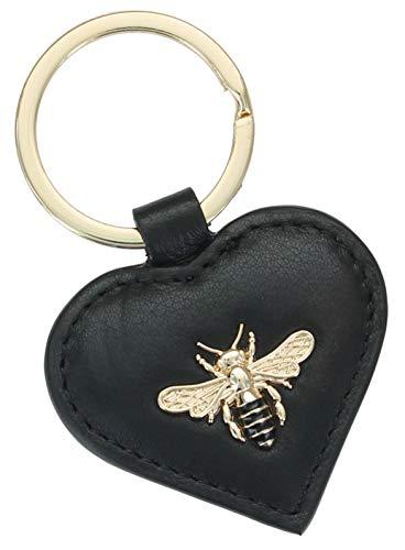 Mala Leather Mason Collection 5154_27 Schlüsselanhänger aus Leder, Schwarz (Schwarz) - 5154_27