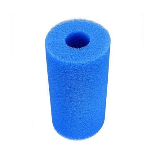 N/V Blauer Schwimmbad-Filterschwamm, Säulenschwamm, Konzentrisch, zylindrisch, Filterschwamm, Säule, 7 x 10,5 x 4 cm
