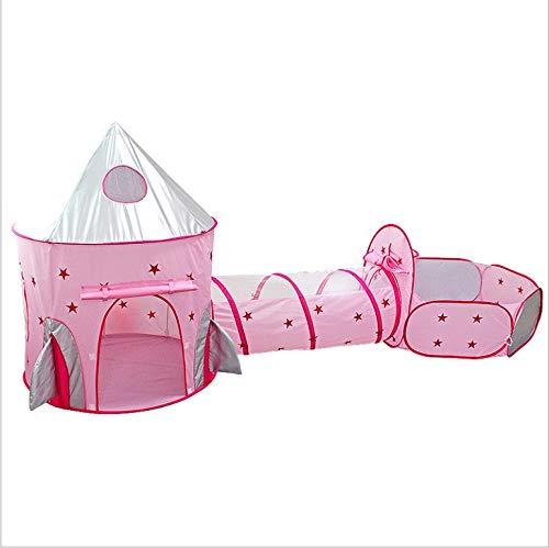 TOPCHANCES Tienda de campaña 3 en 1 para niños pequeños que se arrastran túneles Pop Up Playhouse Play Tent Pool Fence Tienda interior Juego Casa