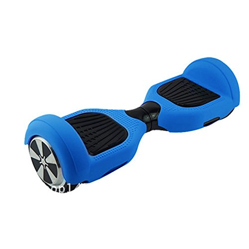 JUEYAN Schutzhülle für 6,5 Zoll Hoverboard Deck Scooter Gummi-Hülle Smart Self Balancing 360 Grad Cover Schutz (Dunkel Blau)