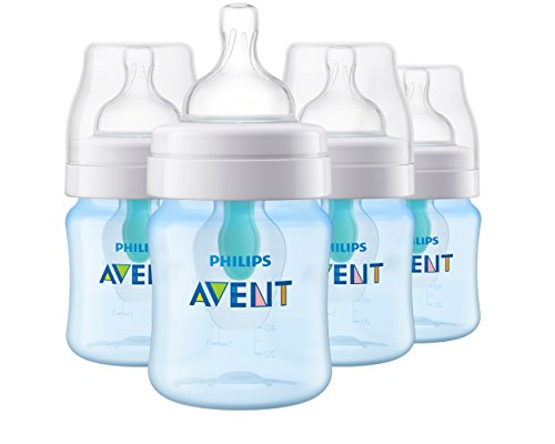 Philips Avent Anti-colic Baby Bottle with AirFree vent 4 Oz 4pk, SCF400/44