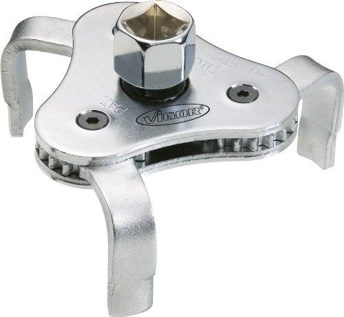 Vigor V1281 - Chiave per Filtro dell'olio, zincata, Diametro 63-102 mm, in Blister