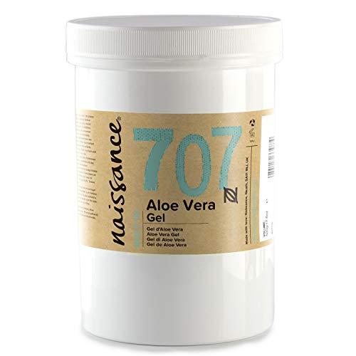 Naissance Gel de Aloe Vera n. º 707 # 500g -  Vegano y no probado en animales -  Refrescante,  calmante e hidratante para todo tipo de pieles.