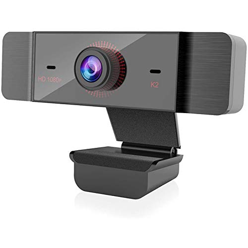 Web Camera with Microphones, 1080P USB Webcam Video Camera for Computers PC Laptop Desktop, Conference Study Video Calling, Skype, Plug and Play