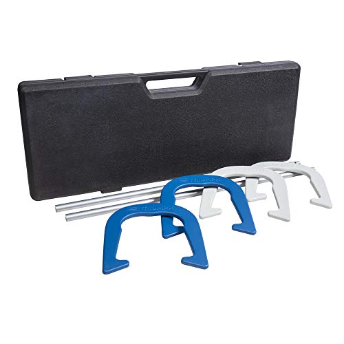 Triumph Sports Premium Forged Horseshoe Set Complete with 4 Horseshoes, 2 Stakes...
